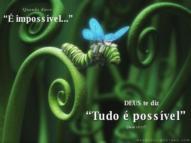Não Posso Resolver As Coisas: As Respostas De Deus