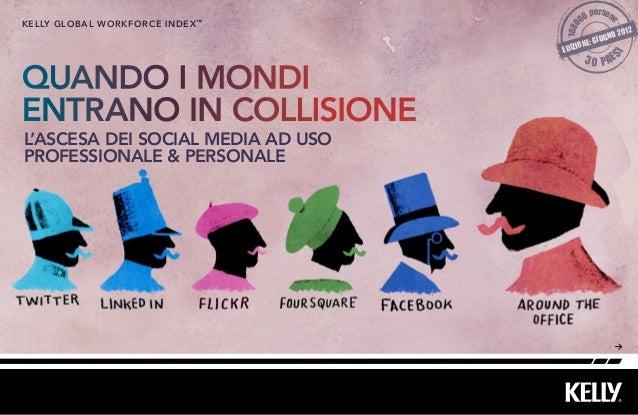 QUANDO I MONDI ENTRANO IN COLLISIONE L'ASCESA DEI SOCIAL MEDIA AD USO PROFESSIONALE & PERSONALE kelly Global workforce ind...