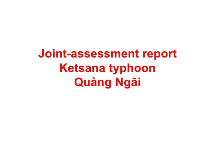 Joint-assessment report Ketsana typhoon Quảng Ngãi