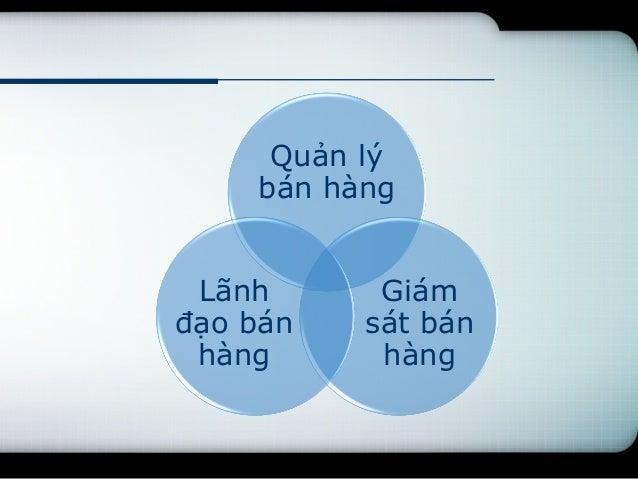 Quản lý bán hàng (sales management) tại công ty Thần Vương Slide 3