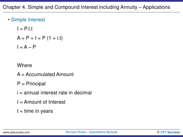 quant04 simple and compound interest including annuity applications