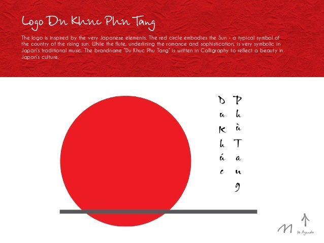 Logo Du Khuc Phu Tang The logo is inspired by the very Japanese elements. The red circle embodies the Sun - a typical symb...