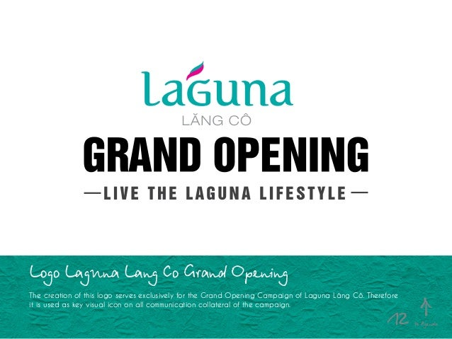Logo Laguna Lang Co Grand Opening The creation of this logo serves exclusively for the Grand Opening Campaign of Laguna Lă...