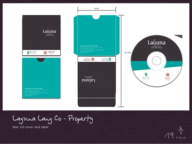 Laguna Lang Co - Property Item: cd cover and label 31,5 CM to Agenda19