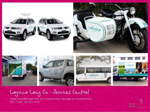 Laguna Lang Co - Services Central Adapt branded logo and key communication message on transportation. Item: 7-seat car, bu...