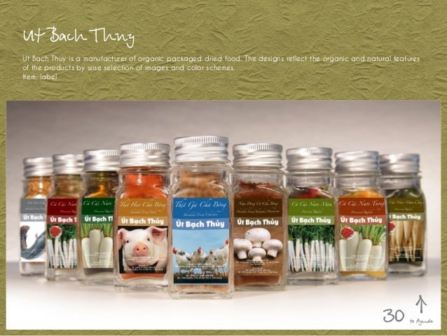 Ut Bach Thuy Ut Bach Thuy is a manufacturer of organic packaged dried food. The designs reflect the organic and natural fe...