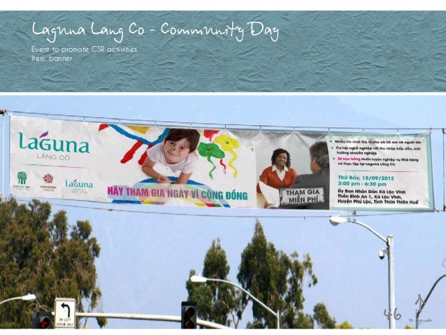 Laguna Lang Co - Community Day Event to promote CSR activities Item: banner to Agenda46
