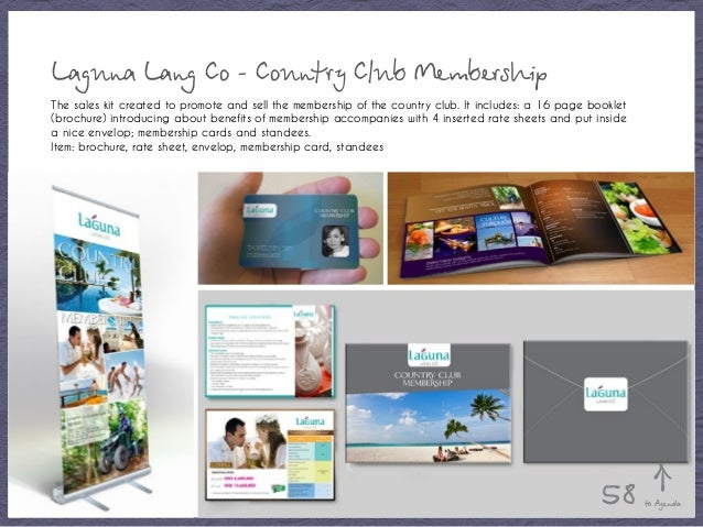 Laguna Lang Co - Country Club Membership The sales kit created to promote and sell the membership of the country club. It ...