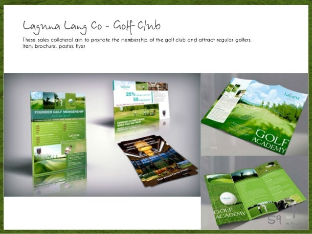 Laguna Lang Co - Golf Club These sales collateral aim to promote the membership of the golf club and attract regular golfe...