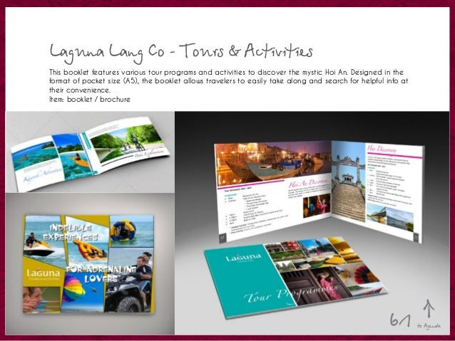 Laguna Lang Co - Tours & Activities This booklet features various tour programs and activities to discover the mystic Hoi ...