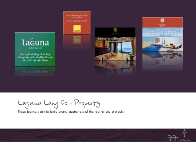 Laguna Lang Co - Property These banners aim to build brand awareness of the real estate projects. to Agenda77