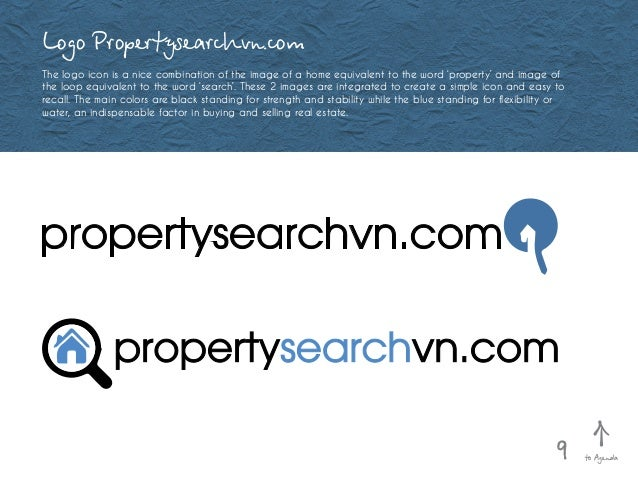 Logo Propertysearchvn.com The logo icon is a nice combination of the image of a home equivalent to the word 'property' and...