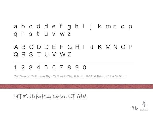 UTM Helvetica Neue LT Std. abcddef ghi j kmnop qr st uvwz ABCDDEFGHI J KMNOP Q R ...