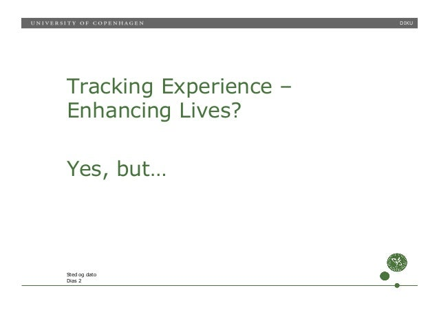 From Quantified Self to Quality of Life Slide 2