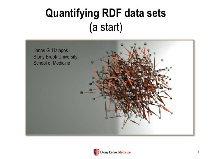 Quantifying RDF data sets               (a start)Janos G. HajagosStony Brook UniversitySchool of Medicine                 ...