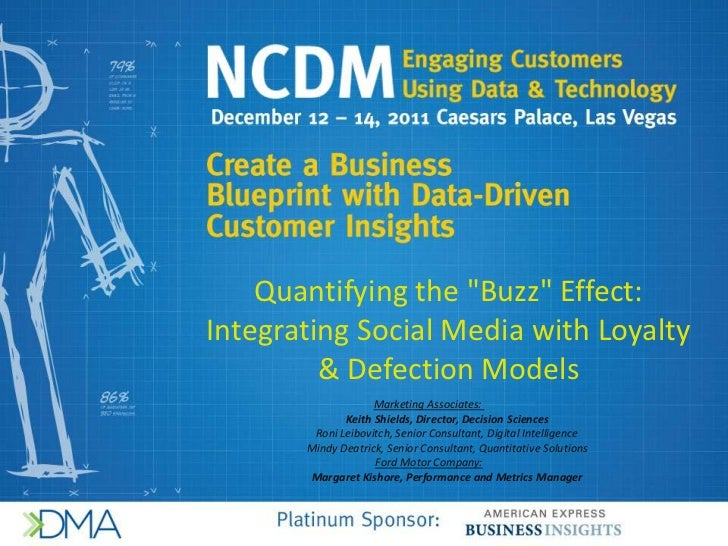 """Quantifying the """"Buzz"""" Effect:Integrating Social Media with Loyalty         & Defection Models                    Marketin..."""