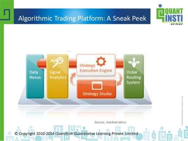 Quantinsti's webinar on algorithmic trading