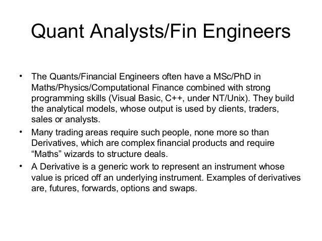 Quant Analysts/Fin ...  Quantitative Analyst Resume