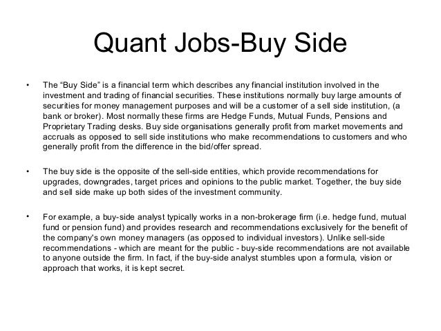 Quant ...  Quantitative Analyst Resume