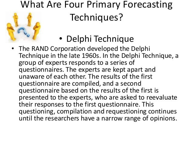 Quantitative and qualitative forecasting techniques om