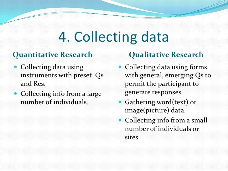 quantitative and qualitative research <br > 8 4