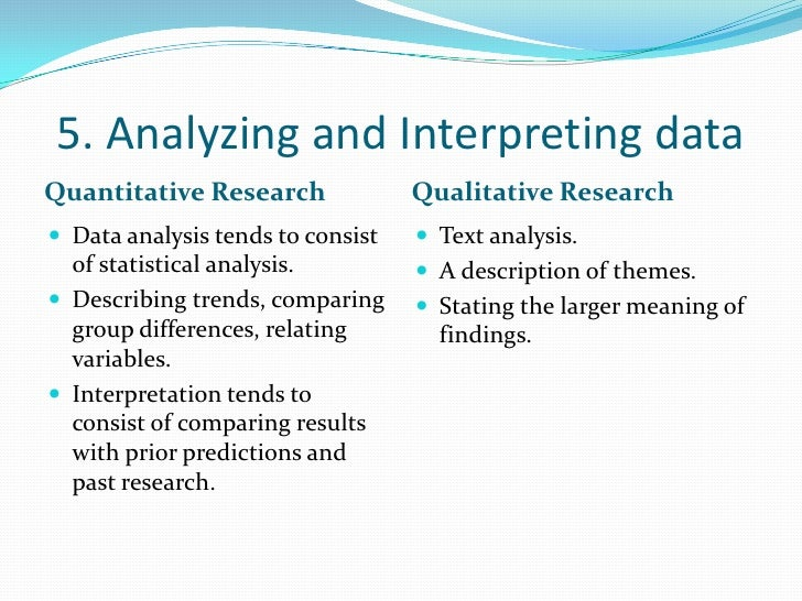 quantitative nursing research report analysis essay Qualitative and quantitative methods in research on essay writing:  'the analysis of the research data has  which had a section on essay and report.