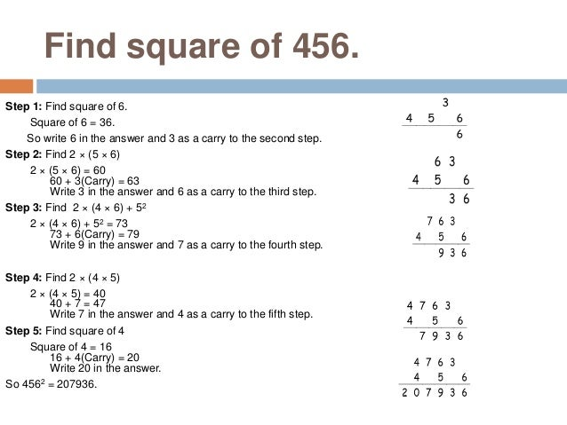 Square Of The Numbers With Unit Digit As 5 This method is to find square of the numbers which has unit's digit as 5. i.e.:...