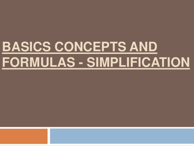 IMPORTANT CONCEPTS AND FORMULAS - ALGEBRA (INCLUSIVE OF SURDS AND INDICES )