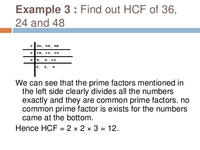 HOW TO FIND OUT HCF USING DIVISION METHOD (SHORTCUT)