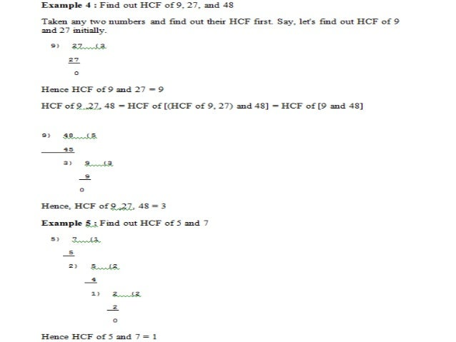 Highest Common Multiple (H.C.F) for fractions HCF for fractions = HCF of Numerators / LCM of Denominators Example 1: Find ...