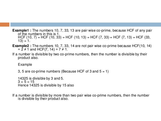 Important Points to Note on LCM and HCF Product of two numbers = Product of their HCF and LCM. Example LCM (8, 14) = 56 HC...