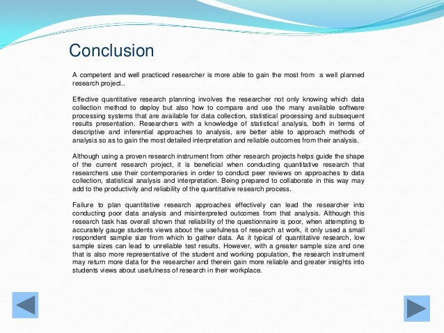 research project conclusion example