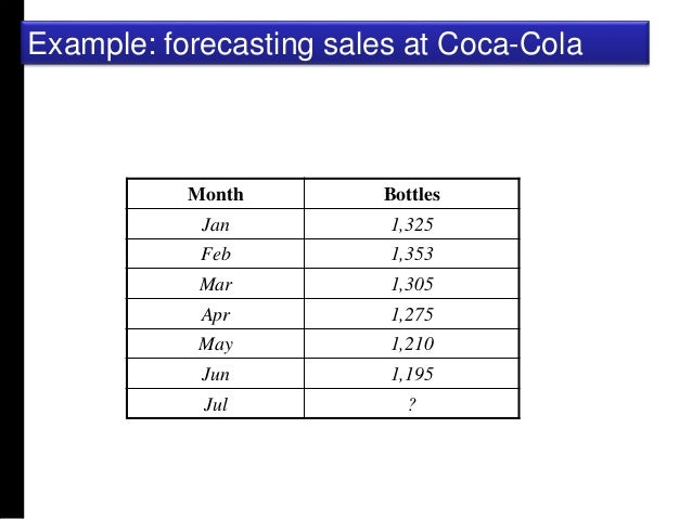 Quantitative forecasting