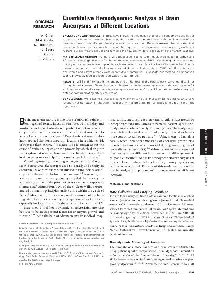 ORIGINAL                                                 Quantitative Hemodynamic Analysis of Brain                RESEARC...