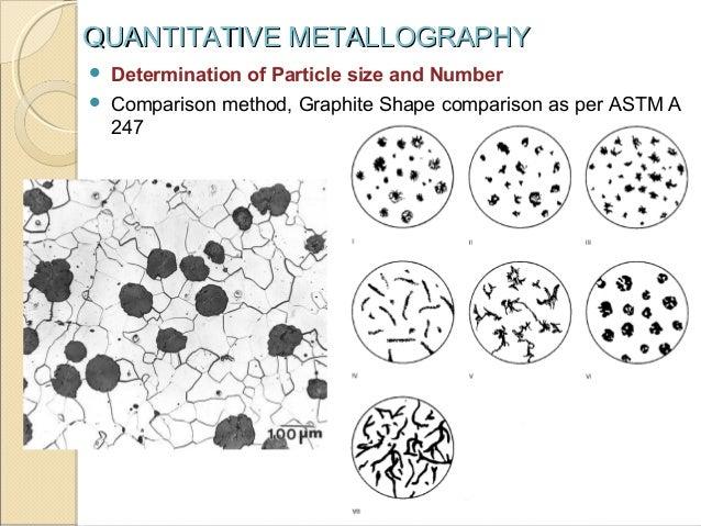 Quantitative metallography