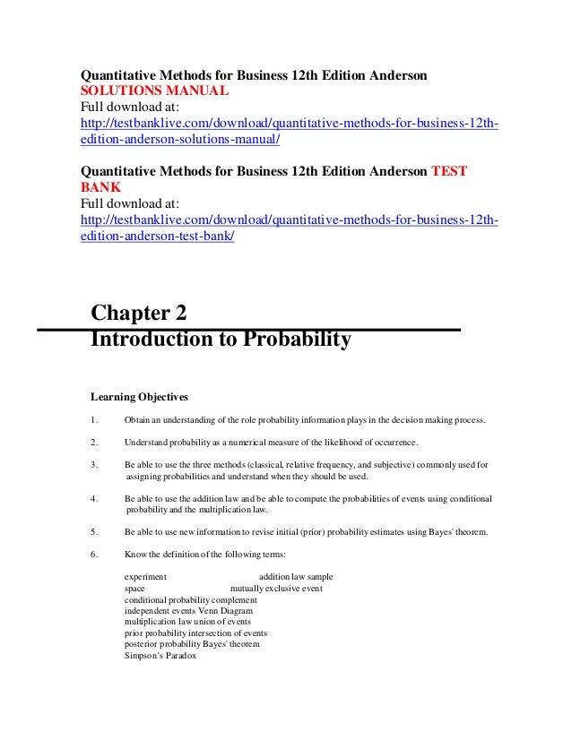 11th for business quantitative edition pdf methods