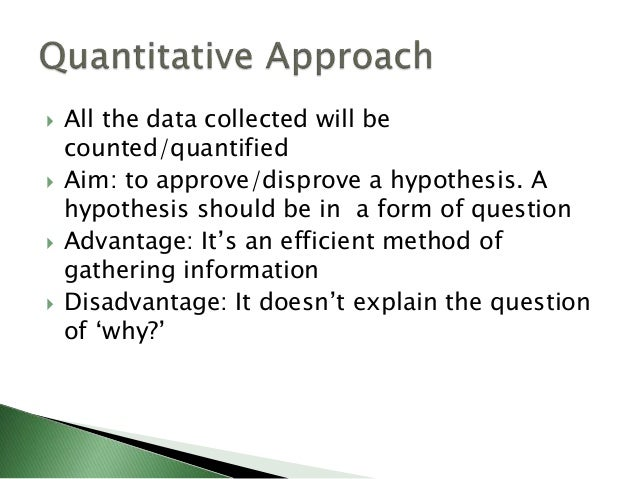  The data collected are non-numerical and gathered to be analyzed in-depth, not to be quantified  Aim: to answer a resea...