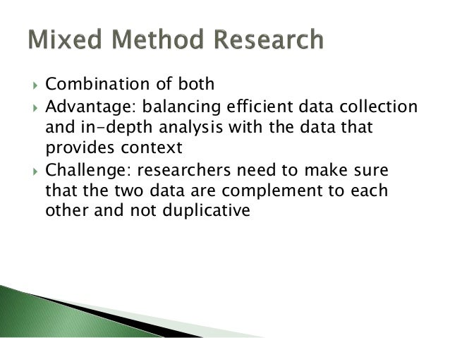 summary of qualitative quantitative and mixed