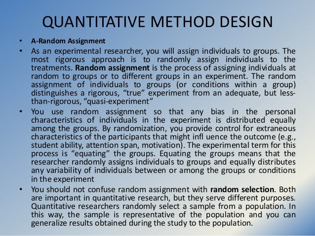 random assignment in research studies Reviews of school choice research studies included in we only cite studies that use a random assignment empirical research literature on the.