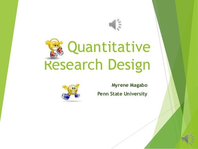 Quantitative approach in research