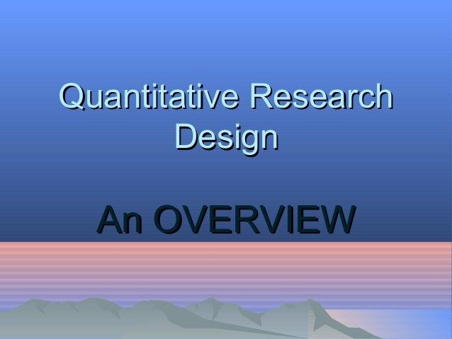 quantitative research report In natural sciences and social sciences, quantitative research is the systematic empirical investigation of observable phenomena via statistical.