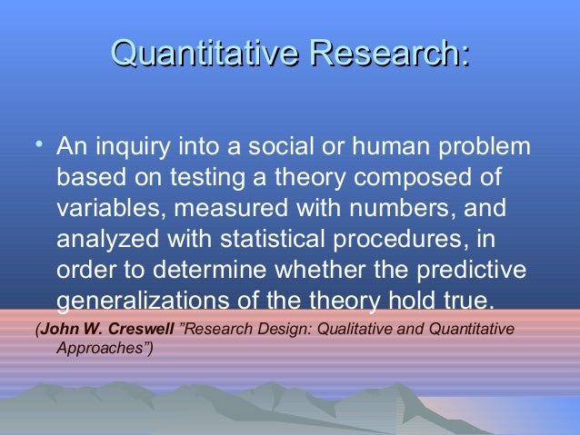 quantitative research reports Read this essay on quantitative research report come browse our large digital warehouse of free sample essays get the knowledge you need in order to pass your.