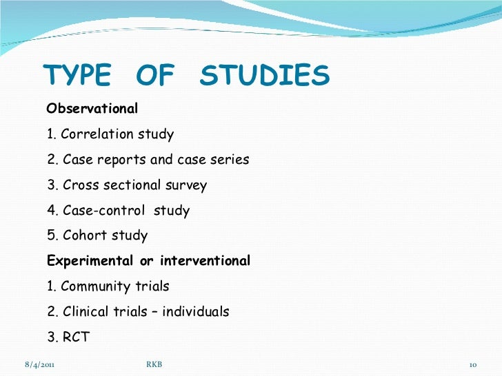 Different types study methods