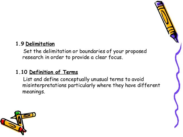 what does delimitation mean in research