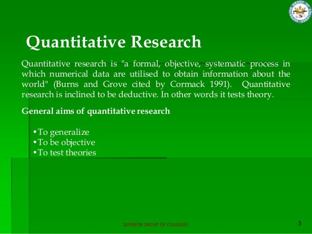 objective of quantitative research Subjectivity and objectivity in qualitative methodology subjectivity and objectivity in qualitative to be objective is to play by the rules within a.