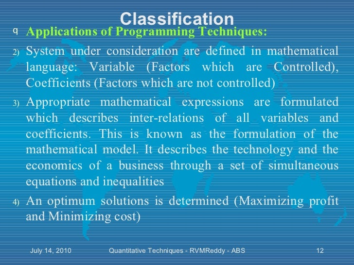 quantitative techniques introduction An introduction to qualitative and by a more in-depth introduction to quantitative 1100 am introduction to quantitative research methods.