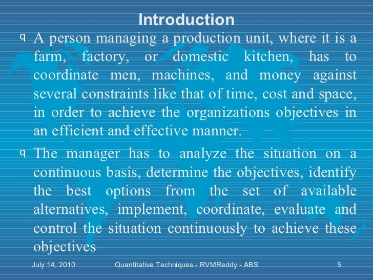 quantitative techniques introduction Introduction there have been increasing interest and accomplishments in  qualitative research in the health field there is thus greater demand by.
