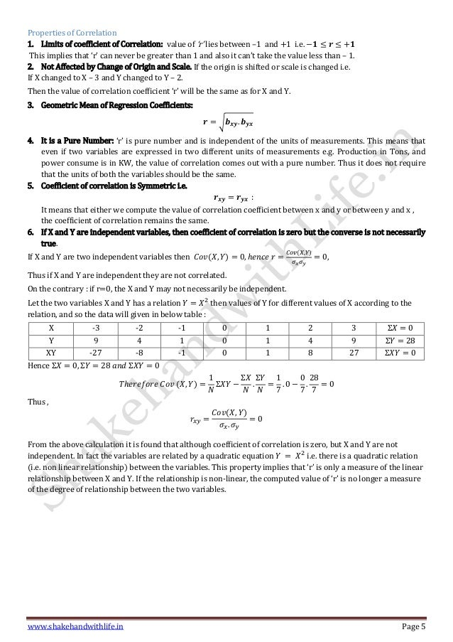 Correlation Regression And Time Series Analysis