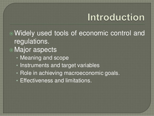 The Goals of Macroeconomic Policy Essay