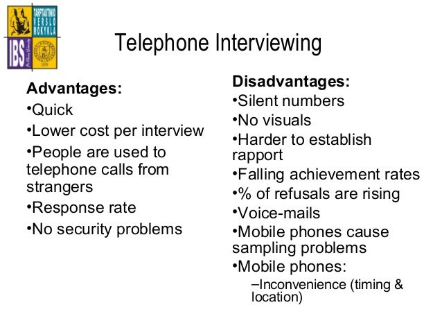 advantages and disadvantages of interviews in research pdf
